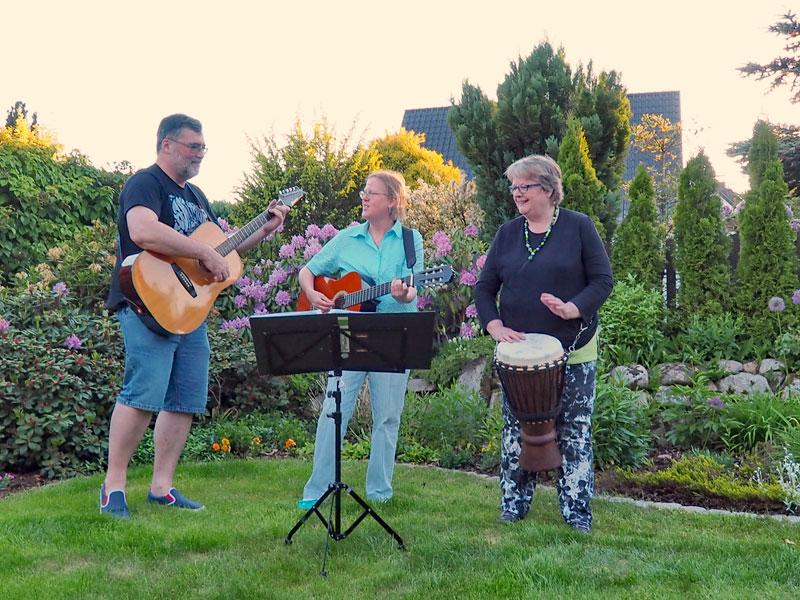 Musiker bei der Probe